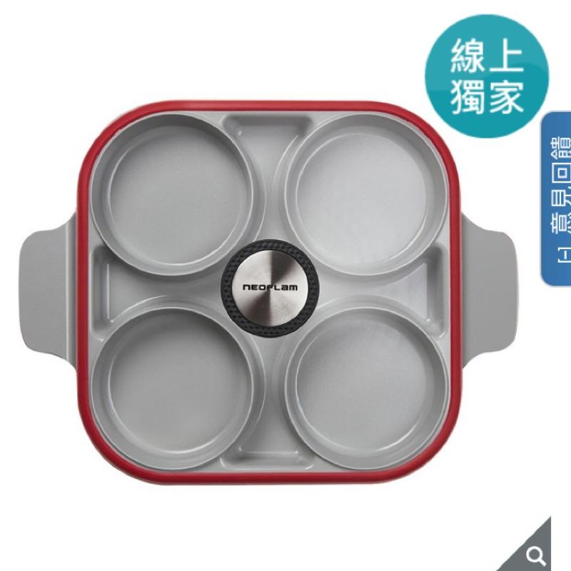 Neoflam 雙耳四格多功能煎鍋含蓋 28 公分 韓國製 好市多 costco