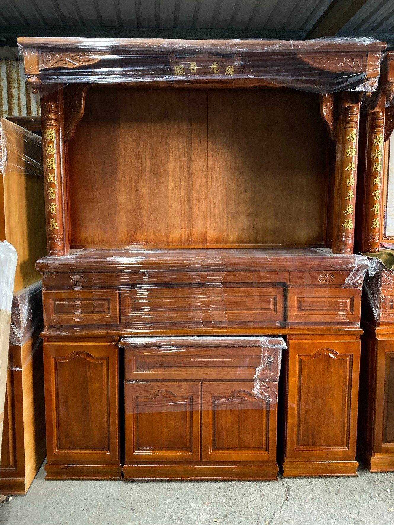 【DH】商品貨號W35-99商品名稱《實木》5.8尺神櫥(中桌+下桌) 附神明像圖如圖四另有5尺1.4尺2/另計.台灣製