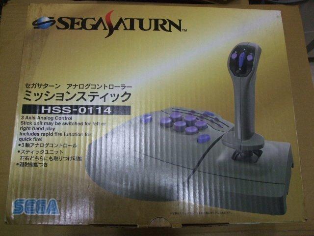 現貨《全新品、盒裝》『懷舊電玩食堂』【SEGA SATURN(SS)】SEGA 原廠 飛行搖桿(另售AV線S端子線)