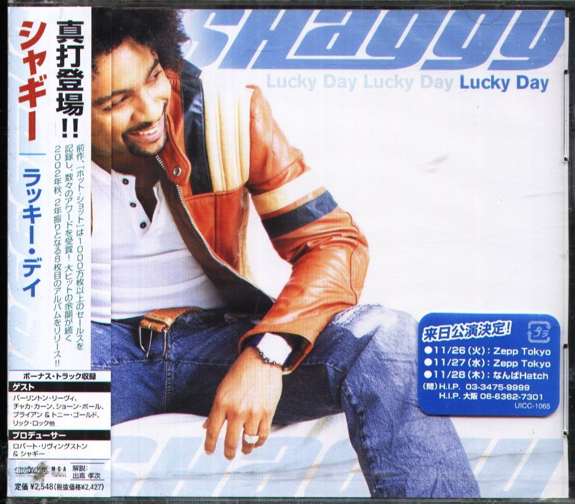 K - Shaggy - Lucky Day - 日版+1BONUS - NEW