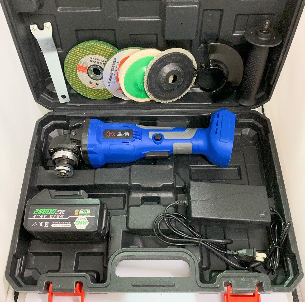 鋰電角磨機 德國 21V單電池 228VF 無刷角磨機拋光機 切割機 打磨機 鋰電池充電式 家用多 工業級  半年
