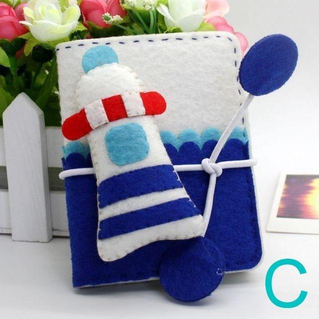 【免剪裁】不織布 DIY材料包 海洋卡包~C款燈塔