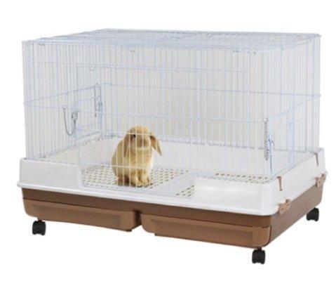 【阿肥寵物生活】日本Marukan 雙抽屜式精緻兔籠 咖啡色(MR-999)