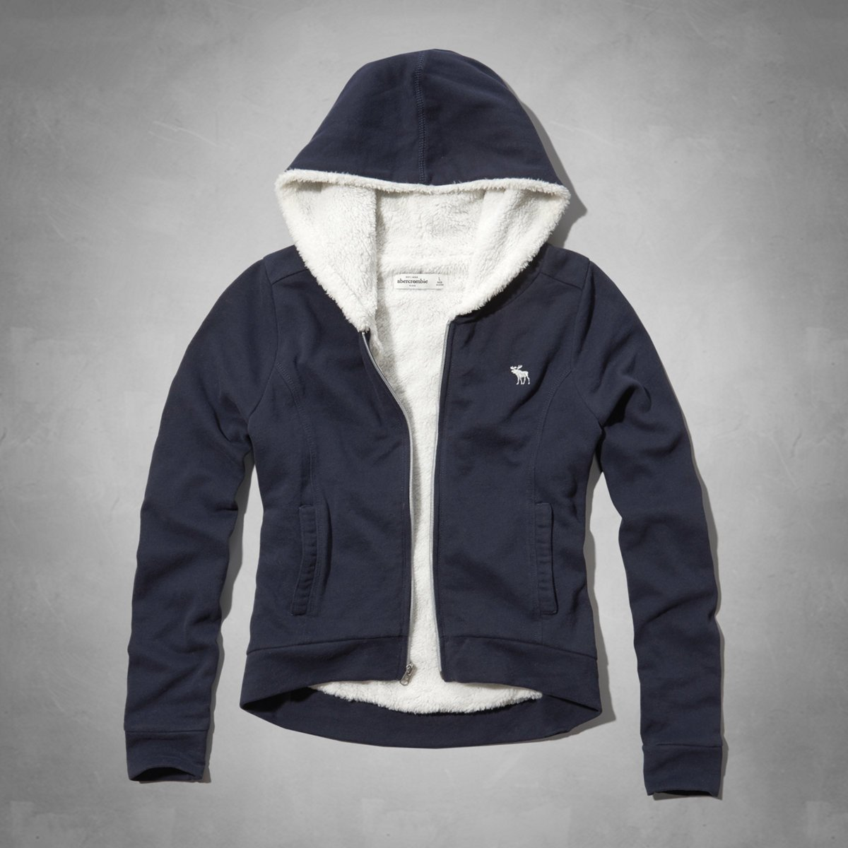 《Cupio》現貨 Abercrombie Kids sherpa lined hoodie熊寶寶毛連帽外套(XL)30