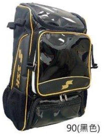 棒球帝國- SSK 棒壘球裝備後背包 MABB03-90 黑色 可放4支球棒 獨立置鞋空間