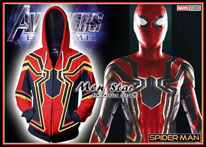 【Men Star】免 復仇者聯盟4 終局之戰 鋼鐵蜘蛛人 裝備 彈力 外套 連帽外套 蜘蛛裝 媲美 stage