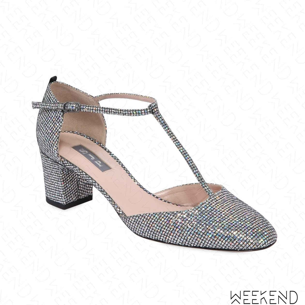 【WEEKEND】 Sarah Jessica Parker SJP Pet 亮面 高跟鞋 銀色