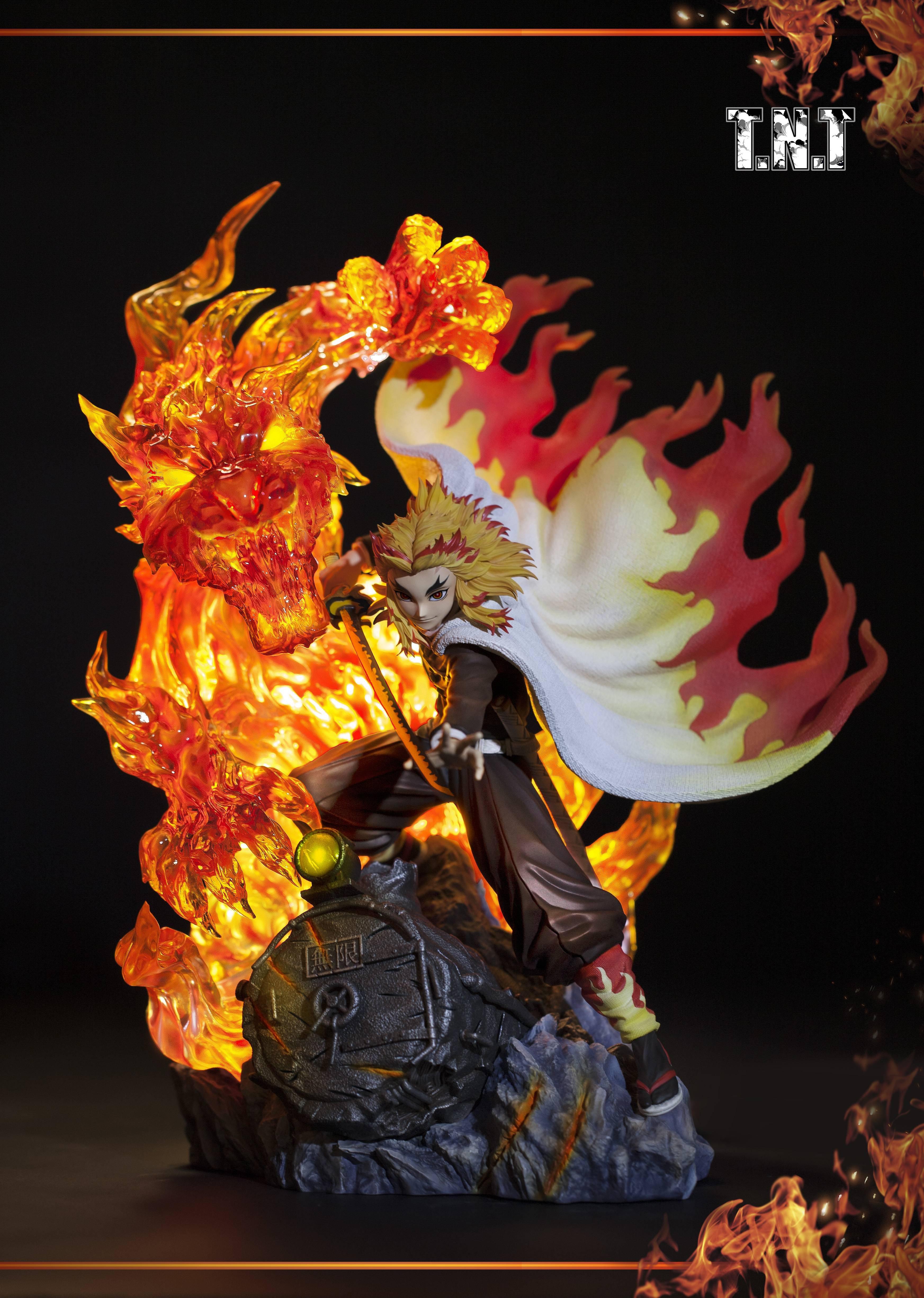 【預購】GK定制,鬼滅之刃,TNT水柱岩柱蟲柱,炎柱煉獄杏壽郎GK雕像,手辦模型