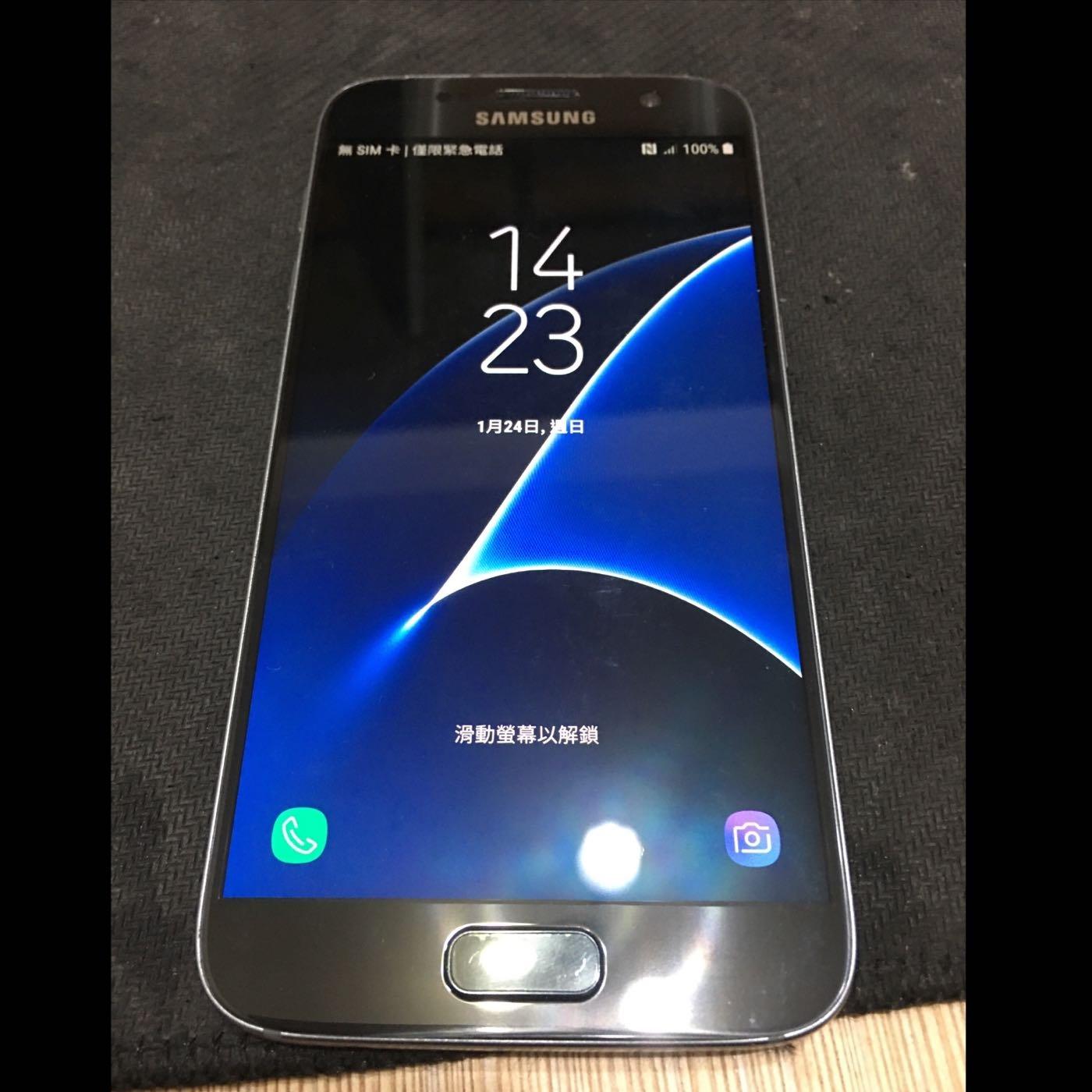 二手SAMSUNG Galaxy S7 edge平面/黑藍/32G三星手機G930FD