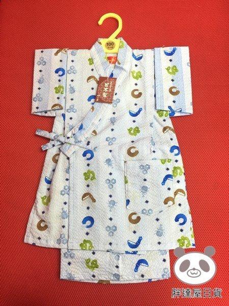 ✪胖達屋日貨✪褲款 90CM 藍底 獨角仙 日本製 男寶寶男童日式和服浴衣兒童甚平 COSPLAY表演