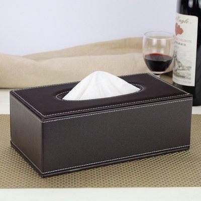 皮質面紙盒 紙巾盒 抽紙盒高檔皮質抽紙盒 黑色牛皮紋皮質 皮革 滾筒紙巾 抽面紙套紙巾套 面紙盒歐式 家飾收納車用