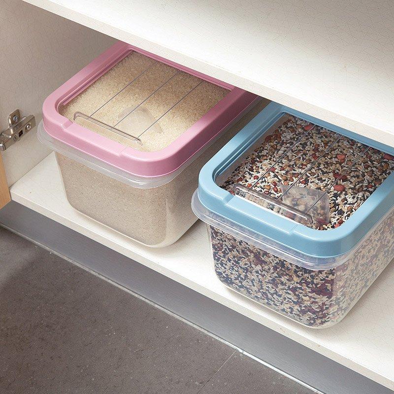 廚房寶居家家大號防潮裝米箱廚房面粉桶防蟲米桶米盒子儲米箱米面收納箱
