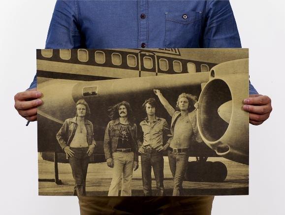【貼貼屋】英國搖滾樂團 齊柏林飛船 Led Zeppelin 懷舊復古 壁貼店面裝飾 電影海報 288