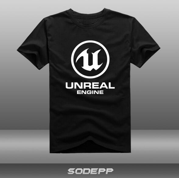 【SODEPP】幻引擎5 幻引擎4 UNREAL游短袖T恤全棉夏