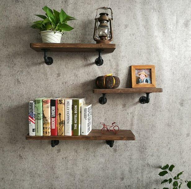 【J Simple工業風】 -復古層板架 置物架 展示架 置物架木板 掛衣架牆上壁掛衣架 書櫃 服裝架 仿舊 書架