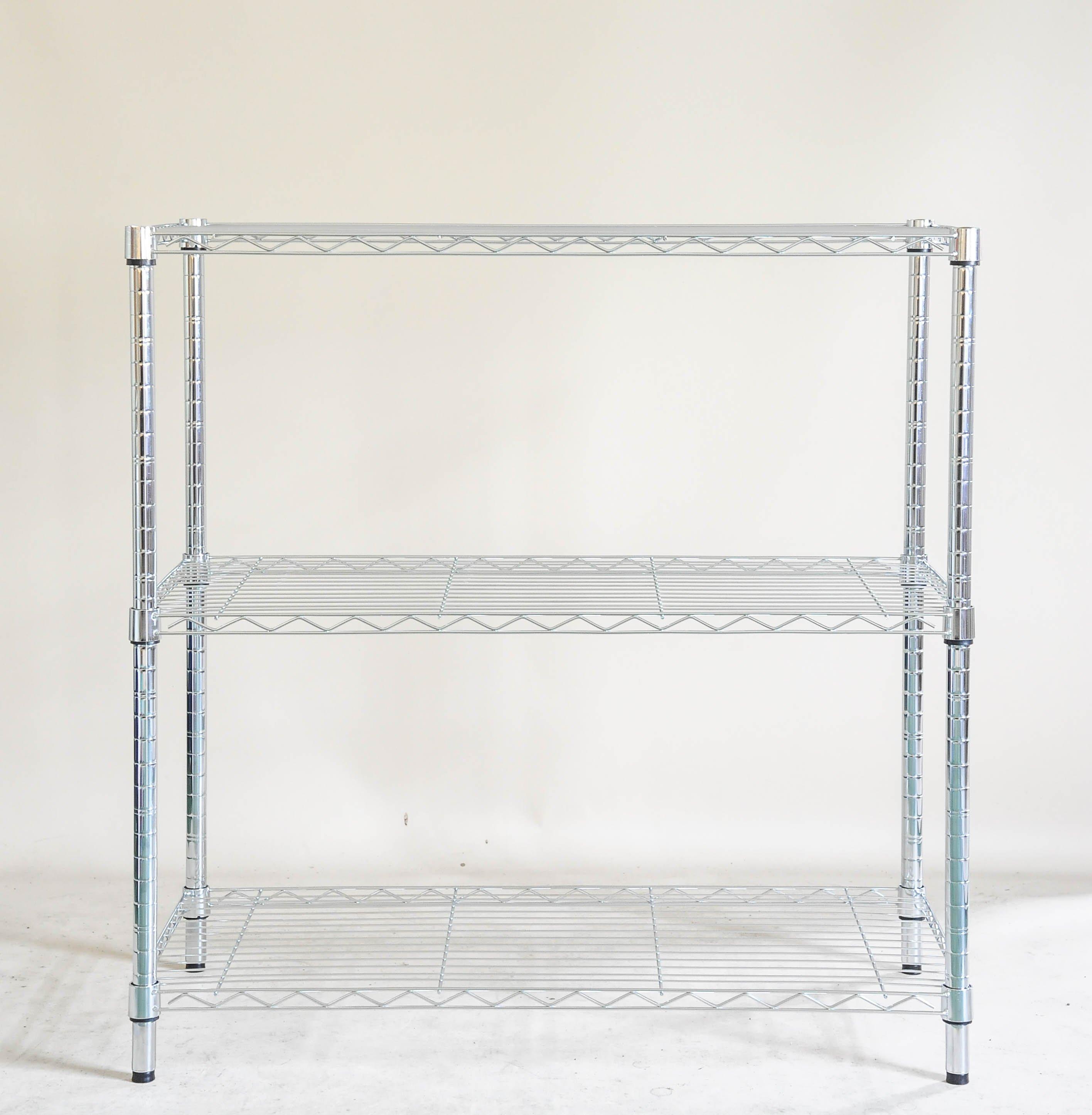 【鐵架工場】s304不銹鋼輕型90*45*高150公分三層架~白鐵架~波浪架~展示架~商品架~浴室架~