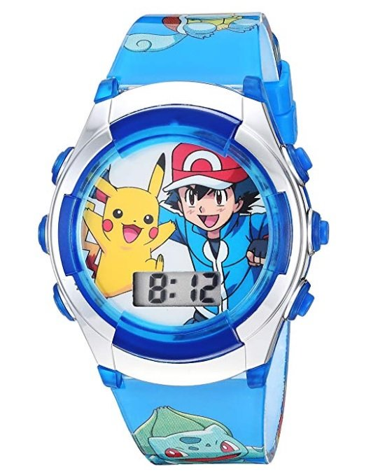 現貨 美國帶回 全球夯 Pokemon 精靈寶可夢 GO精靈球神奇寶貝動漫兒童藍色電子錶 學習手錶 生日禮 新年禮