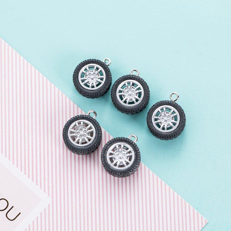 塑料輪胎diy飾品掛件鑰匙扣掛飾耳環耳飾飾品 車輪車輪小輪子可愛鑰匙扣鑰匙大集合