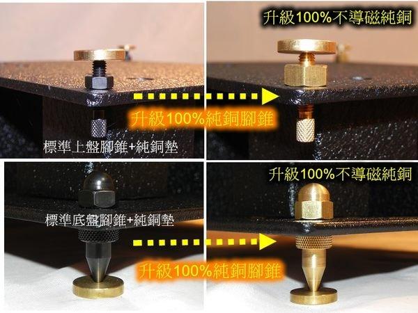 【響樂視聽】HI-FI喇叭架升級 ~無磁性純銅角錐避震系統*墊材*腳釘*腳錐*腳座*高度可微調