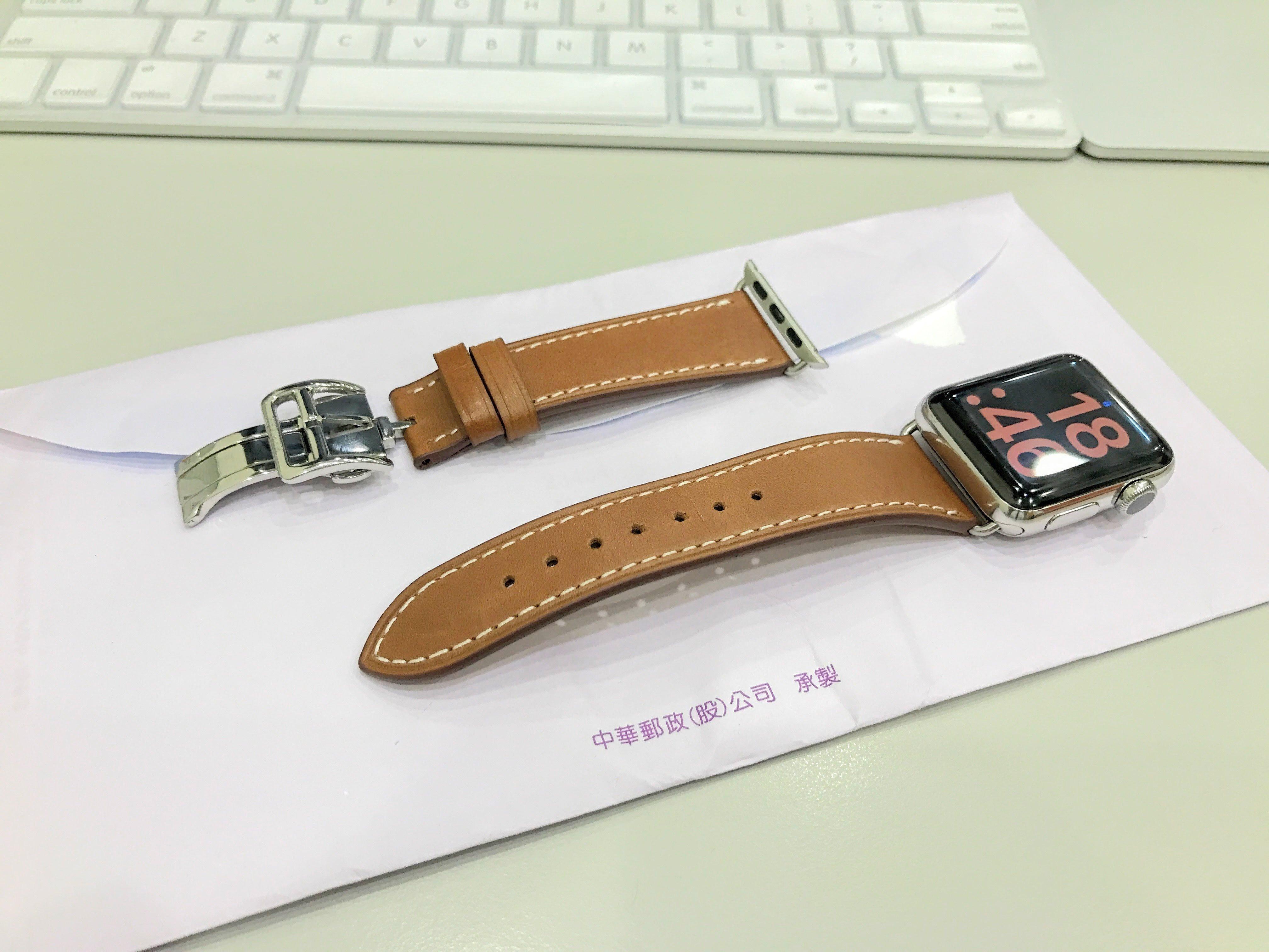 不鏽鋼 38mm apple watch 手作悠遊卡晶片錶帶 單買 22mm 折叠扣款 沛納海22mm替代