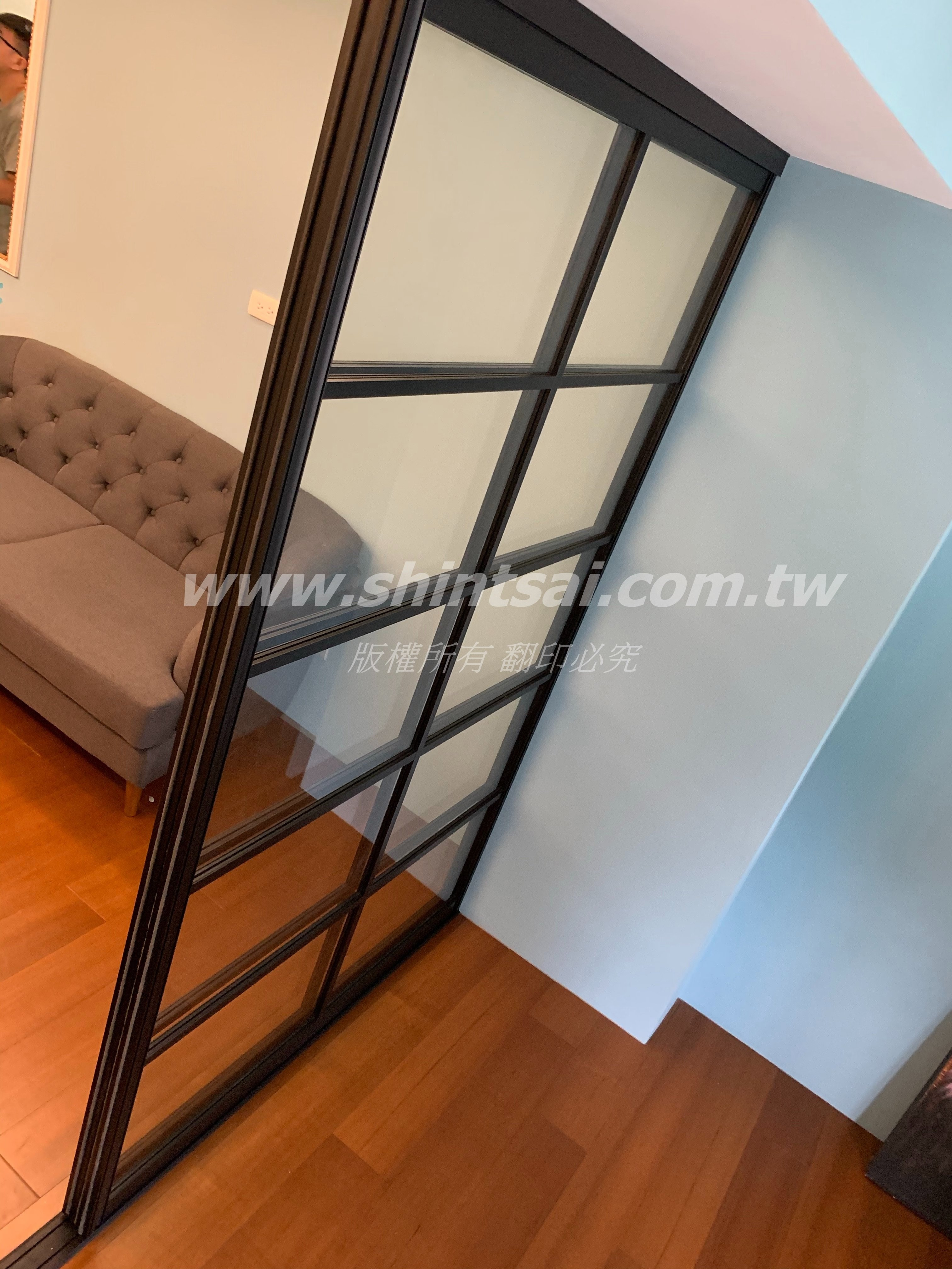 shintsai玻璃工程 隔間玻璃拉門 鋁框推拉門 懸吊門 鋁框拉門 玻璃拉門 書房玻璃門