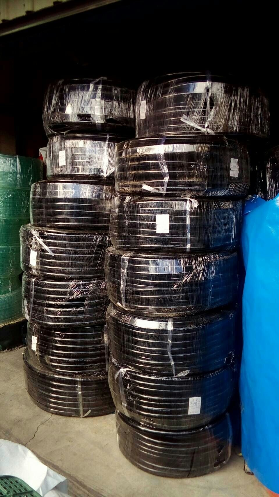A級祥曜牌黑珠光水管園藝農用(膠管)1英吋*1捲/100米長