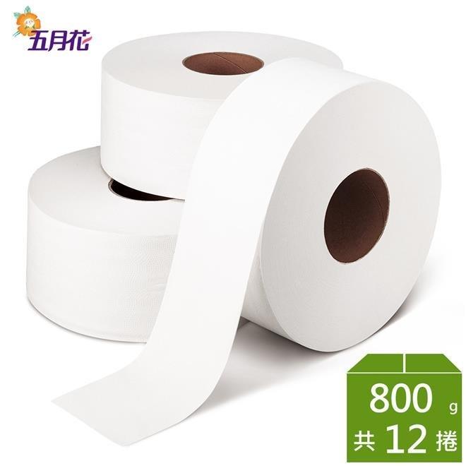 [伊豆無塵室]  五月花營業用大捲筒衛生紙 800gX12捲