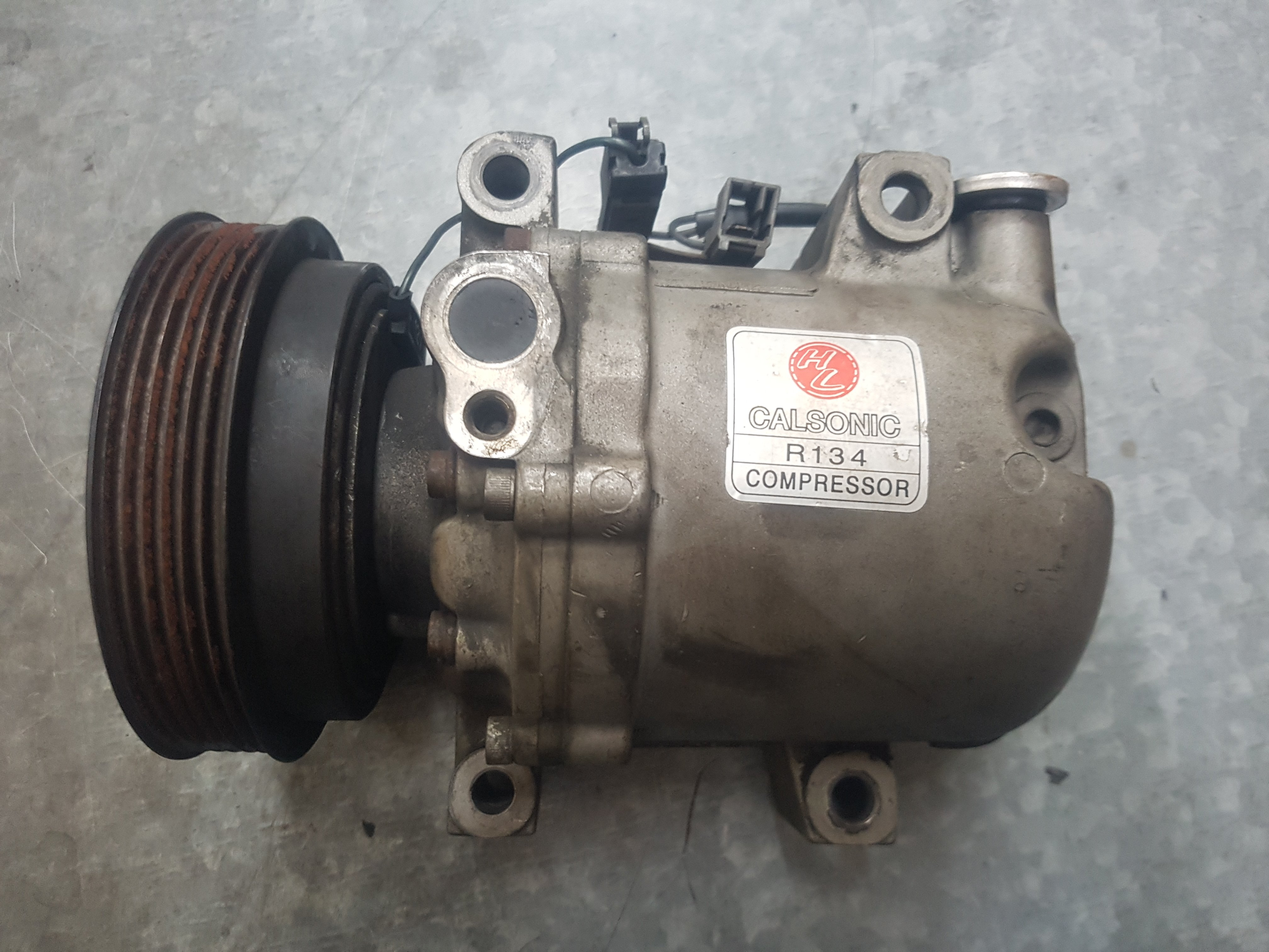 ~ NISSAN 日產 裕隆 MARCH K11 冷氣 壓縮機  永彰型 日本外匯整理品