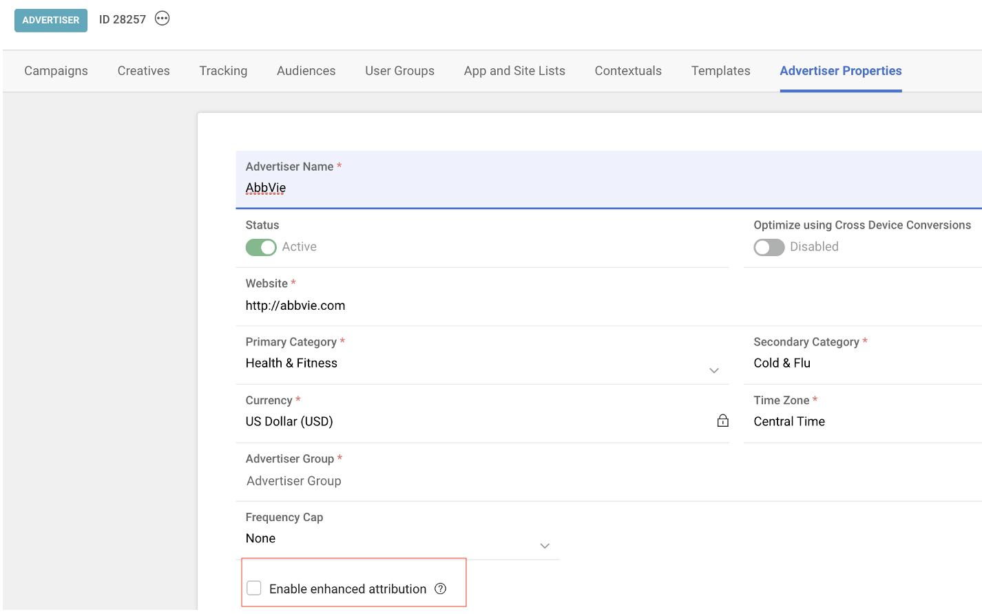 enable attribution button