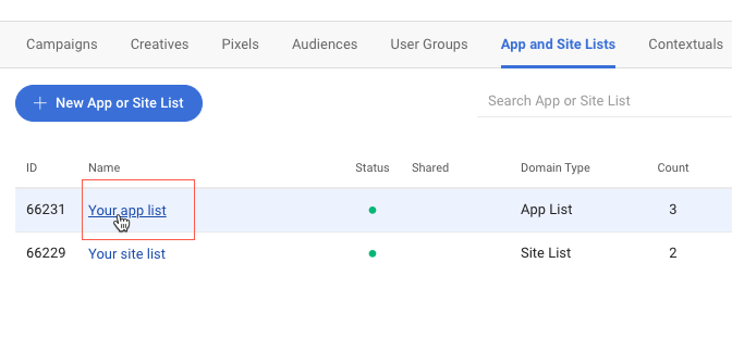 select-app-list