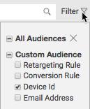 audience-filter-drop-down-list