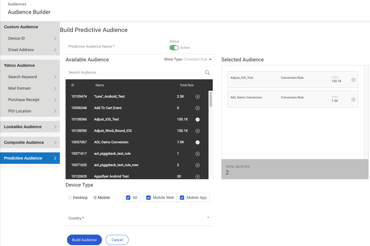 Building a Predictive Audience Seed