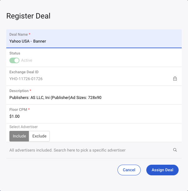 deal discovery assign