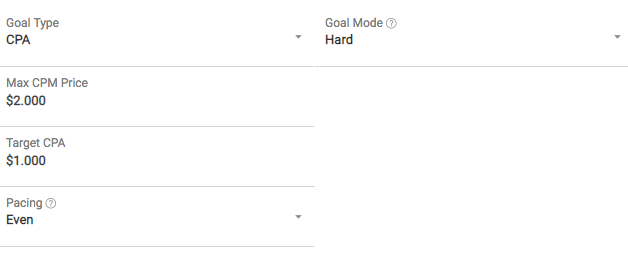 optimized CPA goal