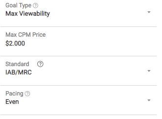 optimized Max Viewability goal