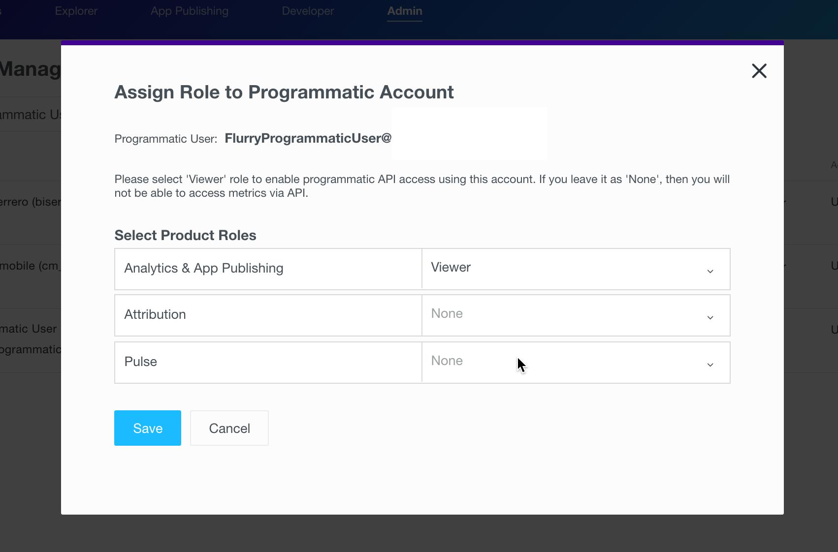 assign programmatic token