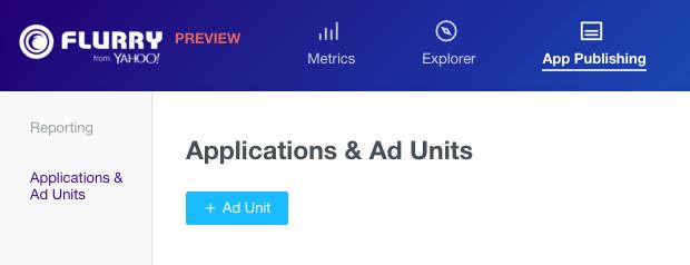 create ad unit