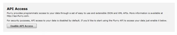 enable api access button
