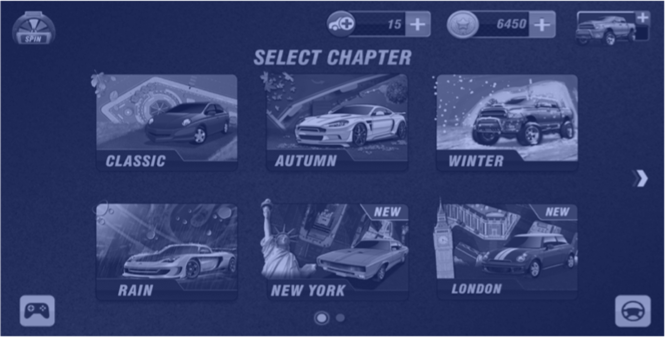Selecting a chapter