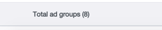 total adgroups