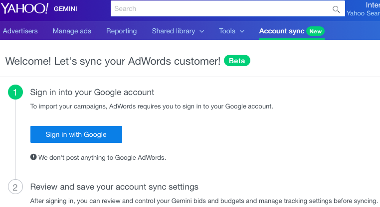 sign in to sync