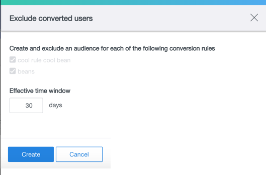 exclude converted users