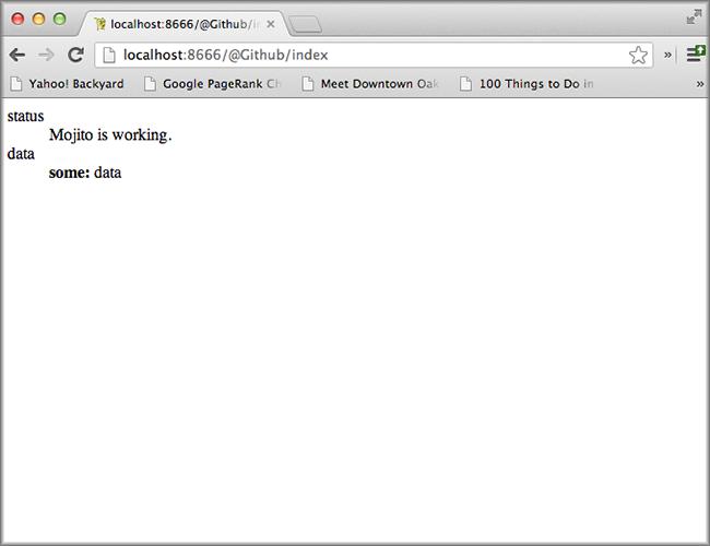 Screenshot of 01 Mojito CLI module application.