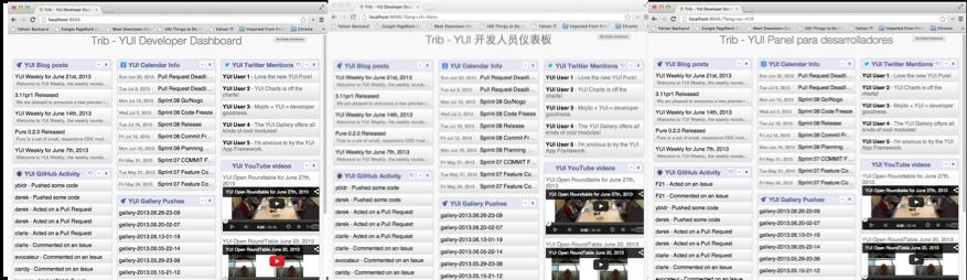 Screenshot of 10 Localization application.