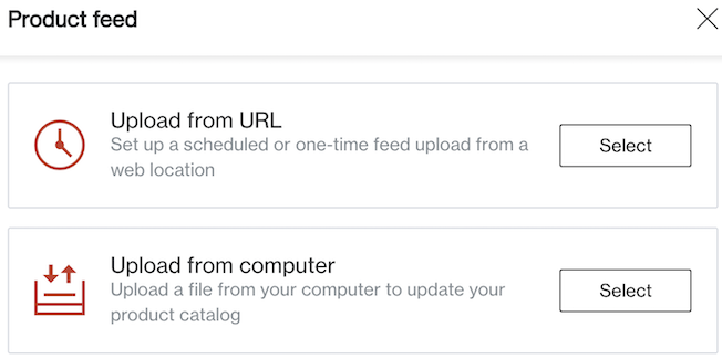 upload feed from computer