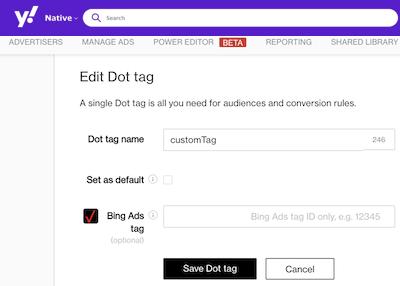 edit dot tag