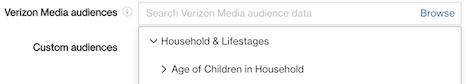 predefined audiences