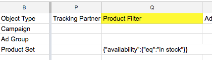 product filter