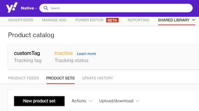 new product set click