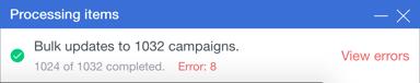 bulk errors